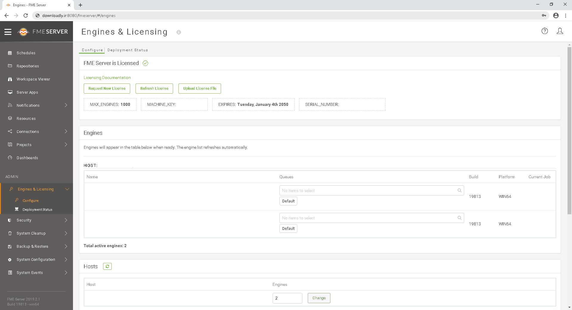 FME Server screenshot