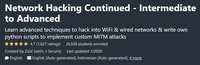 Network Hacking Continued - Intermediate to Advanced