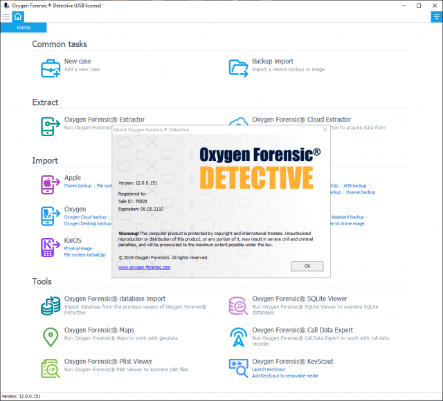 Oxygen Forensic Detective screenshot