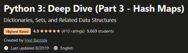 Python 3: Deep Dive (Part 3 - Hash Maps)