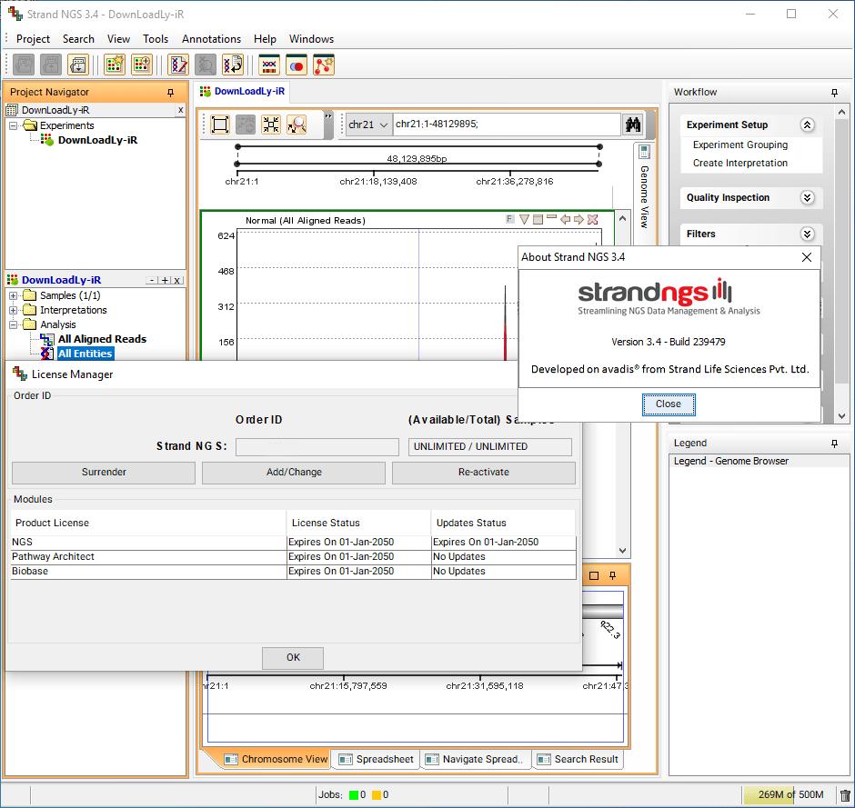 Strand NGS screenshot
