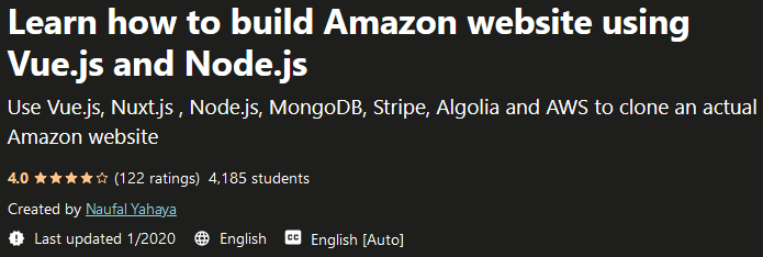 Learn how to build Amazon website using Vue.js and Node.js