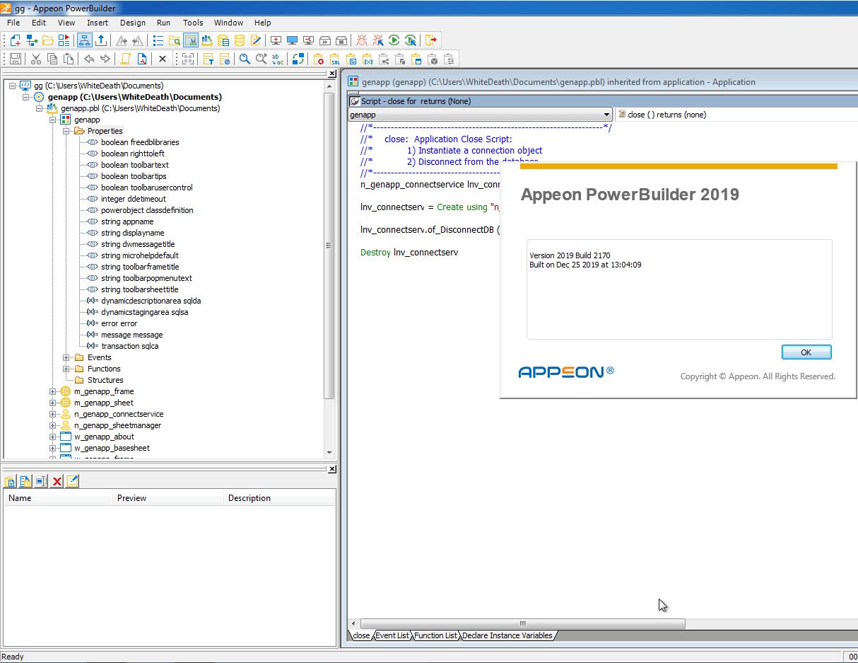 PowerBuilder screenshot