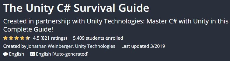 The Unity C # Survival Guide