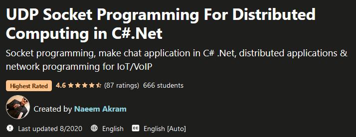 UDP Socket Programming For Distributed Computing in C#.Net