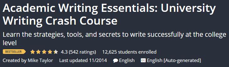 Academic Writing Essentials: University Writing Crash Course