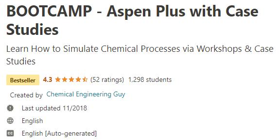 BOOTCAMP - Aspen Plus with Case Studies