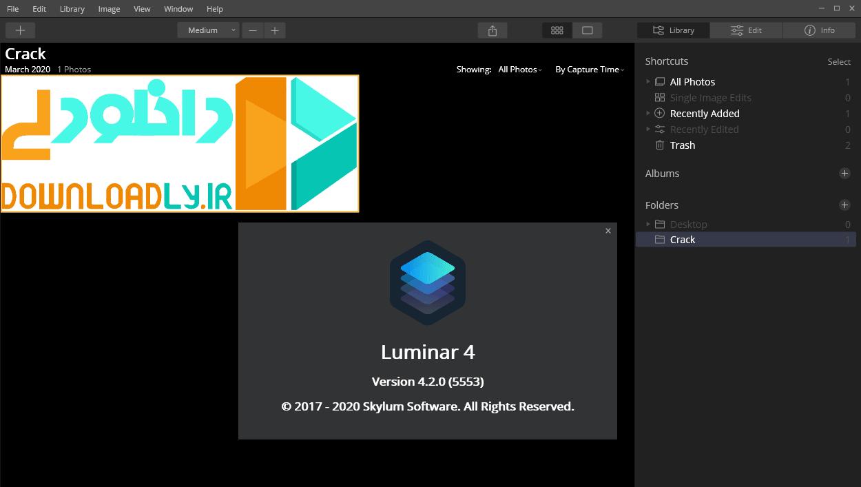 Luminar screenshot