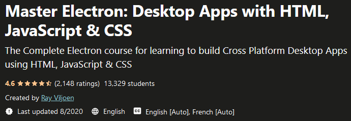 Master Electron: Desktop Apps with HTML, JavaScript & CSS
