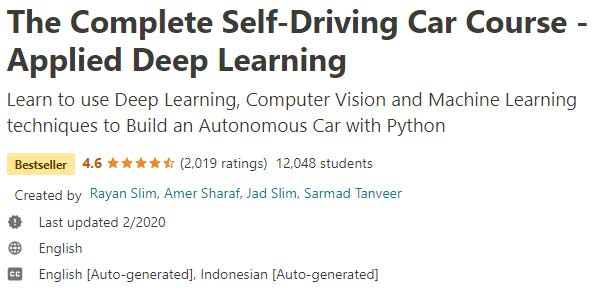The Complete Self-Driving Car Course
