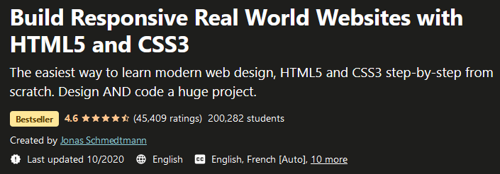 Build Responsive, Real World Websites with HTML5 and CSS3