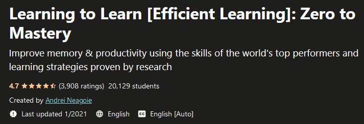Learning to Learn [Efficient Learning]: Zero to Mastery