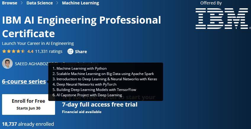 IBM AI Engineering Professional Certificate