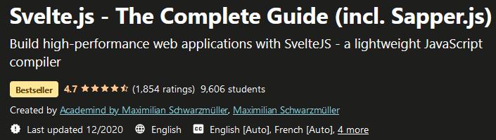 Svelte.js - The Complete Guide (incl. Sapper.js)