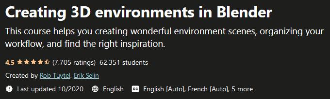 Creating 3D environments in Blender