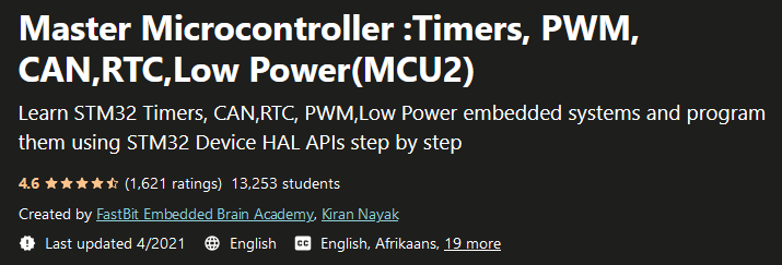 Master Microcontroller :Timers, PWM, CAN,RTC,Low Power(MCU2)