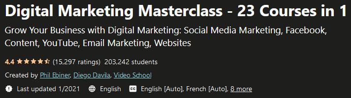 Digital Marketing Masterclass - 23 Courses in 1