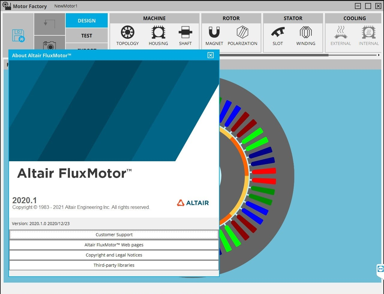 Altair FluxMotor screenshot