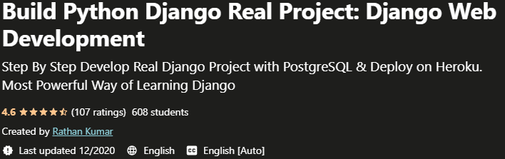 Build Python Django Real Project, Django Web Development