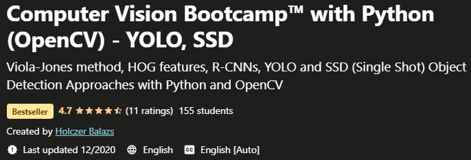 Computer Vision Bootcamp with Python OpenCV YOLO SSD