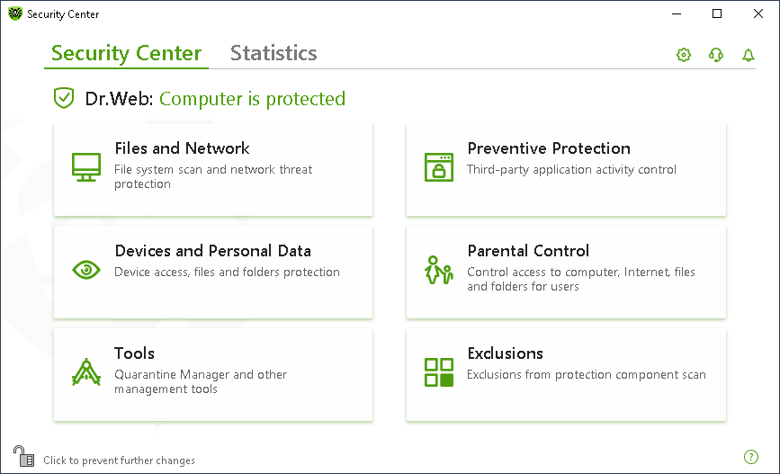 Dr.Web Security Space screenshot