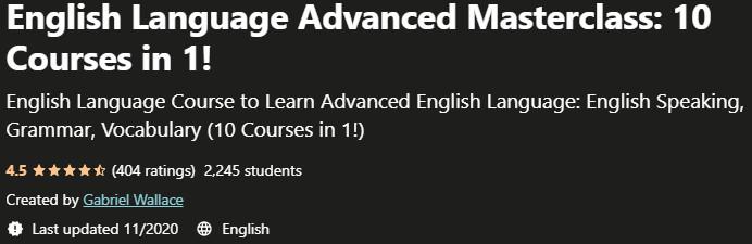 English Language Advanced Masterclass 10 Courses in 1