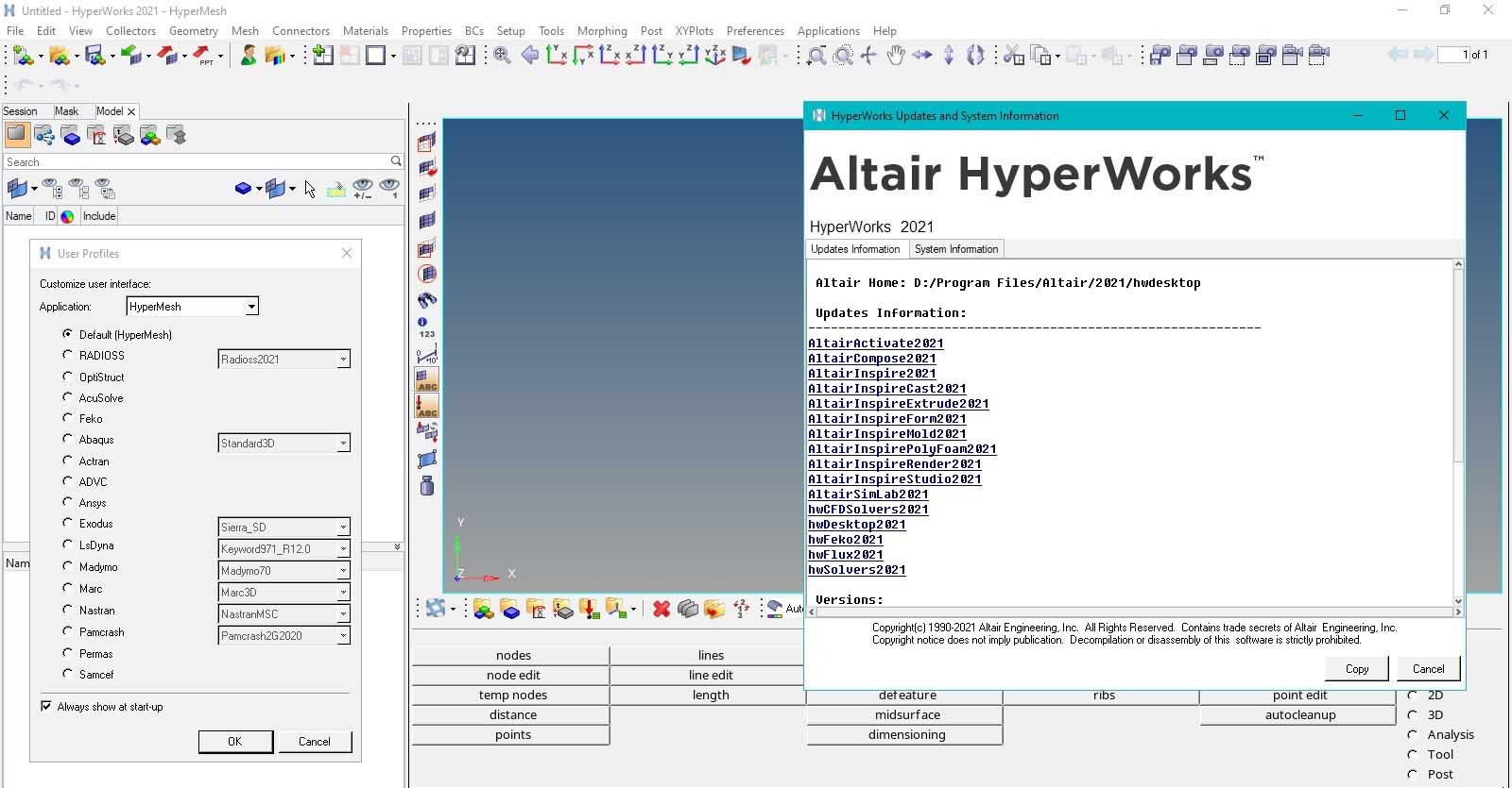 HyperWorks screenshot