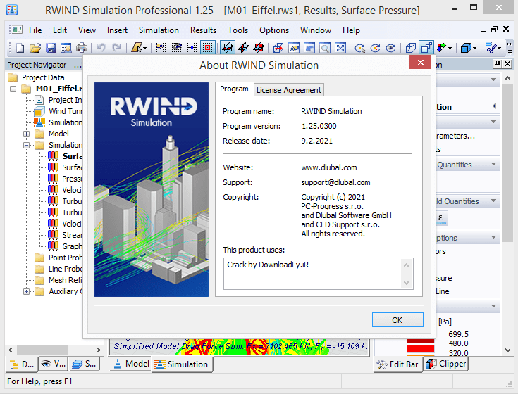 RWIND Simulation screenshot