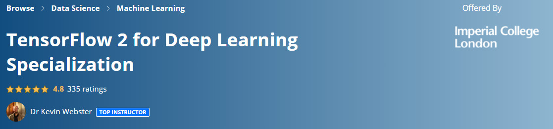 TensorFlow 2 for Deep Learning Specialization
