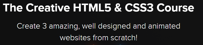 The Creative HTML5 & CSS3 Course
