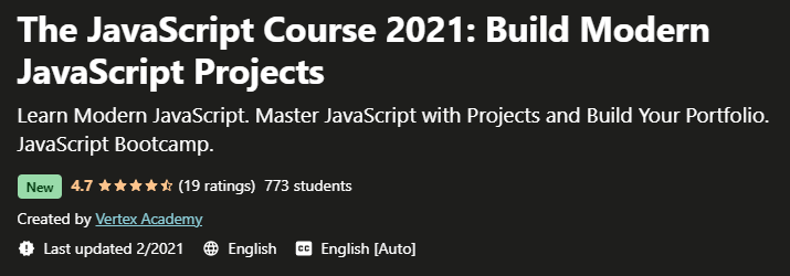 The JavaScript Course 2021 Build Modern JavaScript Projects