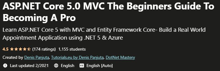 ASP.NET Core 5.0 MVC The Beginners Guide To Becoming A Pro