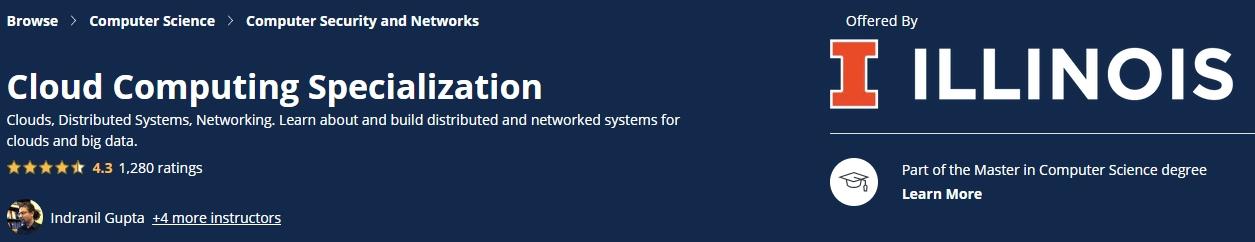 Cloud Computing Specialization