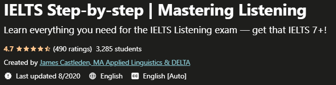IELTS Step-by-step Mastering Listening