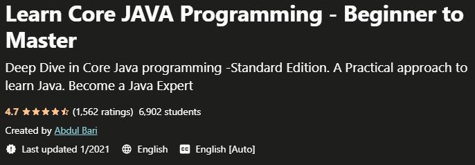 Learn Core JAVA Programming - Beginner to Master