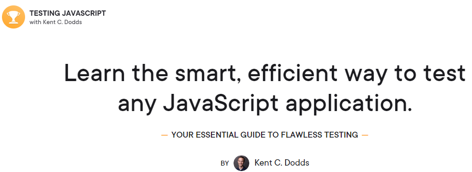 Testing JavaScript with Kent C. Dodds