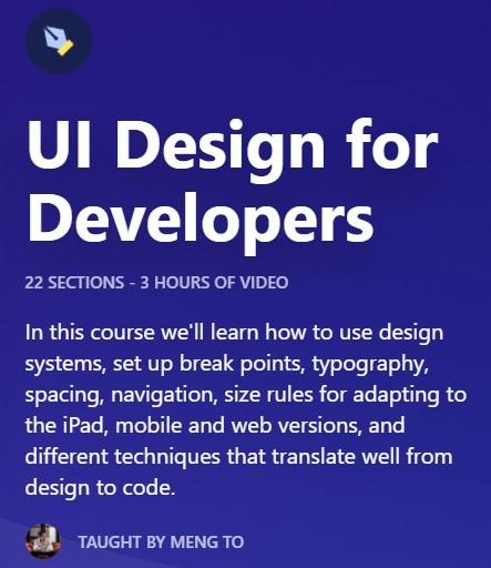 UI Design for Developers