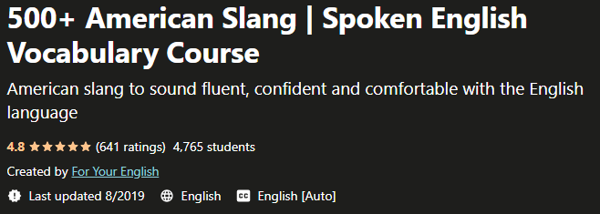 500 American Slang Spoken English Vocabulary Course