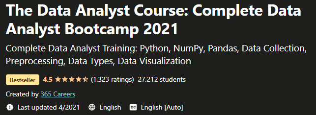The Data Analyst Course Complete Data Analyst Bootcamp 2021