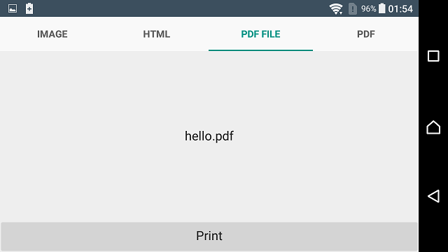 Winsoft Printing Library for Android Screen