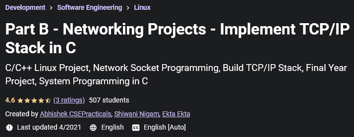 Part B - Networking Projects - Implement TCP/IP Stack in C